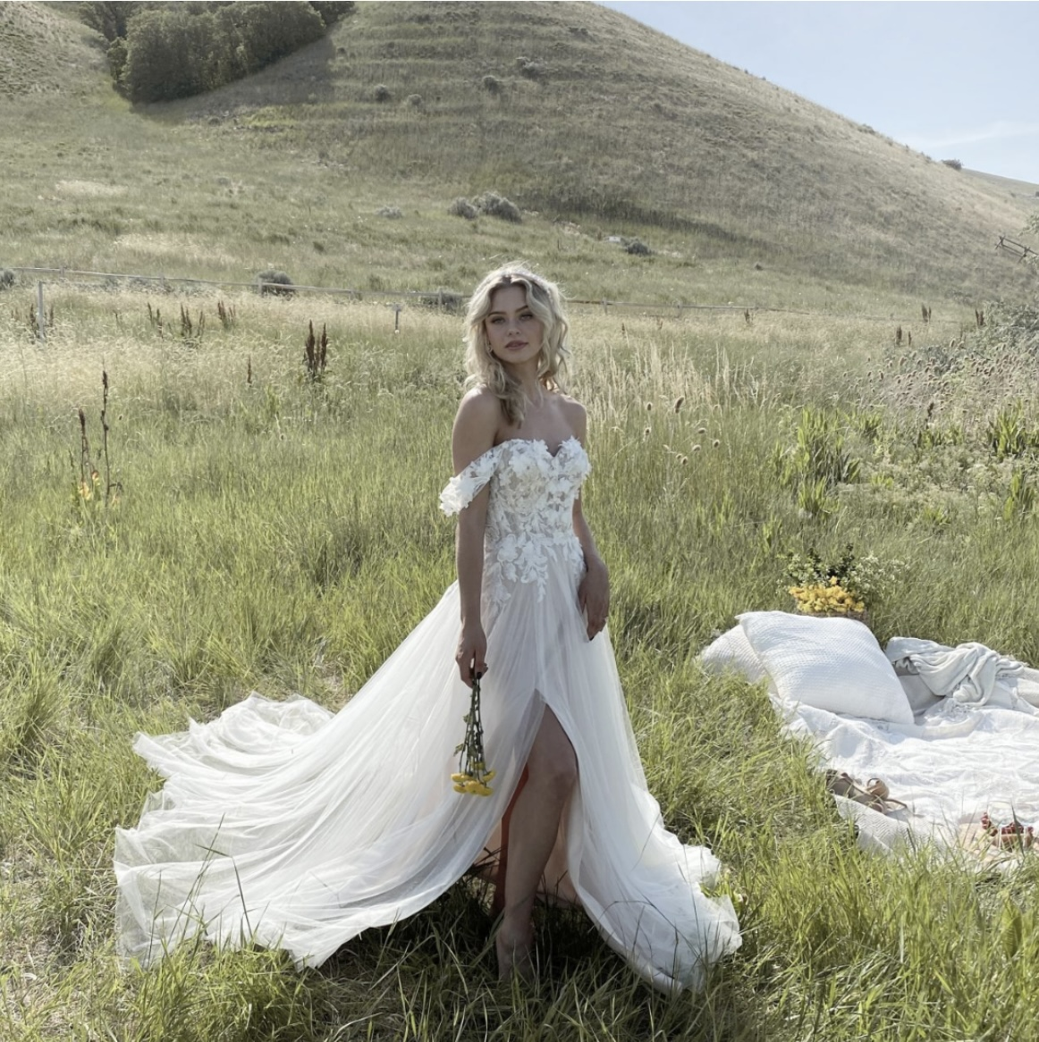 Mira boho wedding dress by Maggie Sottero in Earby Lancashire